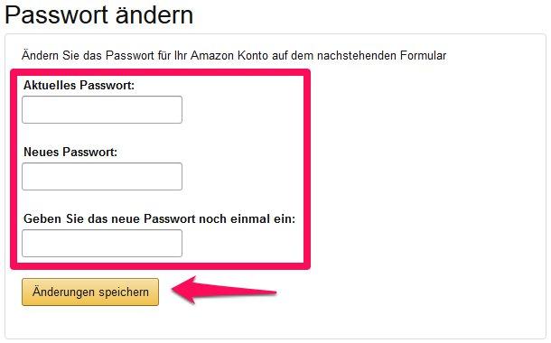 Amazon Passwort ändern